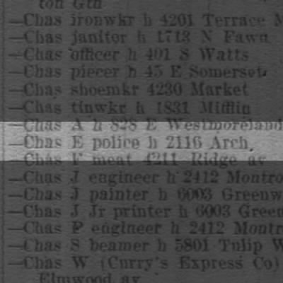CURRY, Chas E police h 2116 Arch
