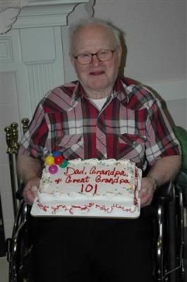 Glenn Theodore Wachter 100 years old