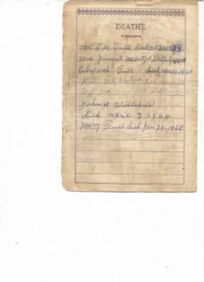 Bible Records from Bible of Ethel McIntyre Tull Williams