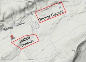 Joshua Thomas, & George Custard land, East Penn, Carbon, PA