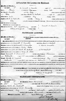 Marriage Certificate of Everett H. Ormsbee & Edith M. Hockett
