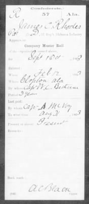 Confederate Service Record (3 of 12)