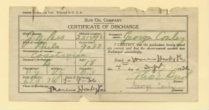 Sun Oil Company Certificate of Discharge