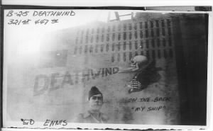 321stBG,447thBS, Ed Ennis and B 25 DEATHWIND nose art.jpg