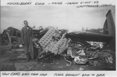 321stBG,447thBS, Ed Ennis Back from Crash 4 Oct.'43 Italy.jpg - Fold3.com