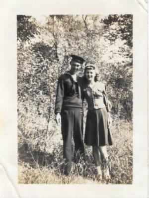 Eli Hancock Jr. and Sister Grace Hancock (Ballew) World War II (Navy)