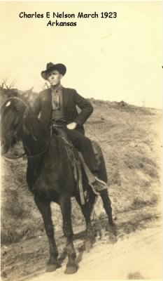 Charles on his horse about 1922.