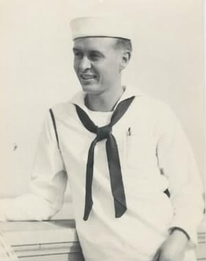 H. Tracy Hall as Sailor in Milwaukee, WI, 1944