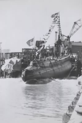 USS Wahoo launched