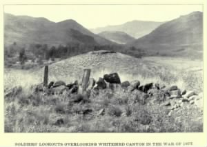 Soldiers' Rifle Positions, White Bird Canyon, nez Perce War 1877