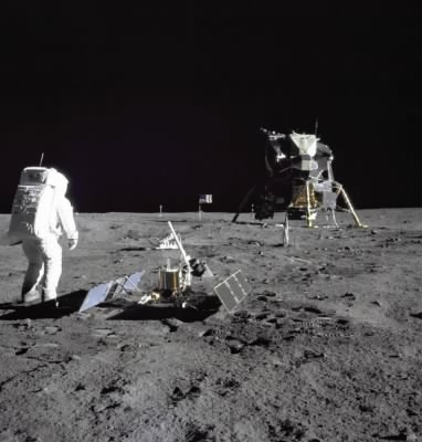 Aldrin Looks Back at Tranquility Base - Fold3.com
