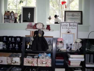 Gift shop at Lizzie Borden Inn - Fold3.com
