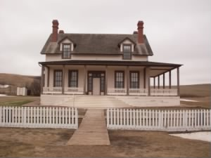 The Custer House on Fort Abe Lincoln