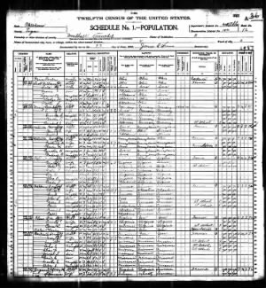 1900 Census Oklahoma, Logan County, Mulhall.