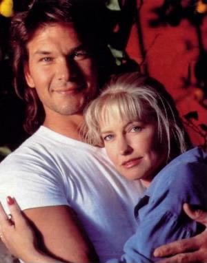 Patrick W Swayze and his wife, Lisa Niemi