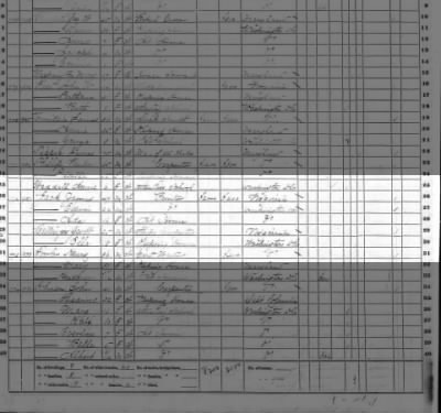 George W. BALLENGER, Jr., 1870 fed census, taken in DC.