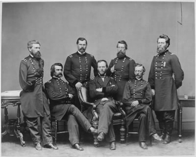 Mathew B Brady Collection of Civil War Photographs › B-4282 Gen William B. Hazen, Group - Fold3.com