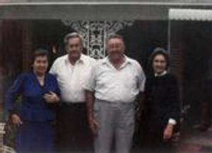 Betty, Brownie, Homer and Lillian after Glady's funeral.jpg