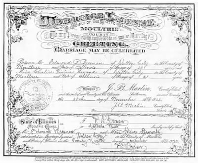 Marriage Certificate for Edmond Bresnan and Chalice Ground - Fold3.com