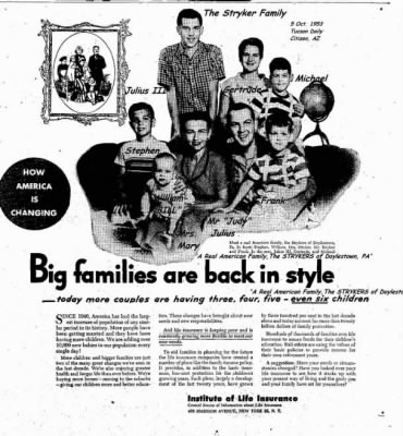 The Julius (Judy) and Mary STRYKER Family in 1953 - Fold3.com