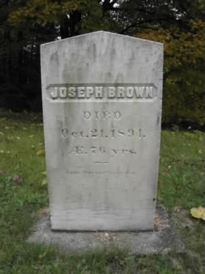 Joseph Brown gravestone