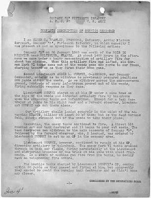 Audie Murphy Letter Page 1