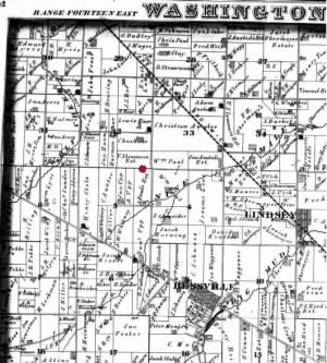 Portion of Washington Township, Sandusky County, Ohio