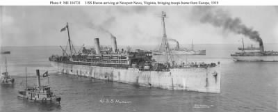 USS Huron Arriving at Newport News, VA 1919 - Fold3.com