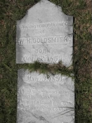 Goldsmith, William H 1891 tombstone chalked.jpg