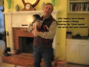 """Caley's Nephew, David Waldrip, 2010 with """"Queen Sophie"""""""