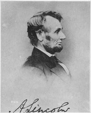 B-6346 Photograph of President Abraham Lincoln
