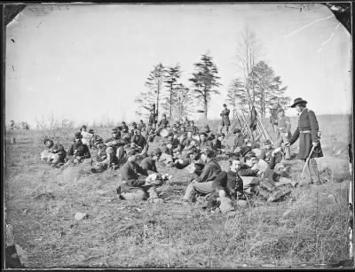 Mathew B Brady Collection of Civil War Photographs › B-220 Infantry Resting From Drills - Fold3.com