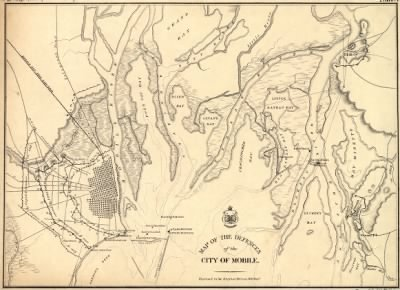 Map of the defences of the city of Mobile. [1862-64] Engraved in the Engineer Bureau, War Dept. › Page 1 - Fold3.com