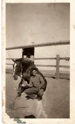 Larry Vester with Horse in Calvary