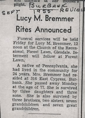 Lucy M Bremmer