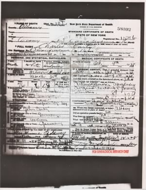 Charles H Carty - Death Certif