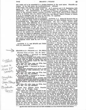 The fight over Susan M Parriott (Sharpe) Estate page 35