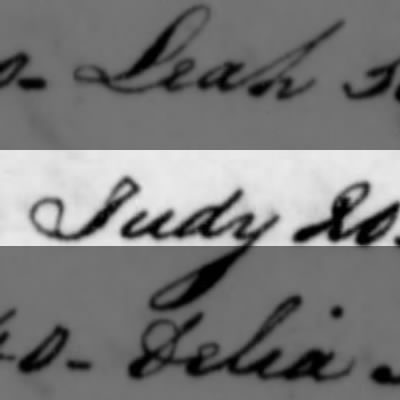 Judy, Slave of Humphry Sommers