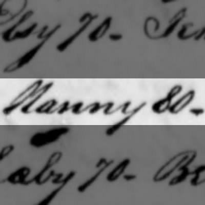 Nanny, Slave of Humphry Sommers
