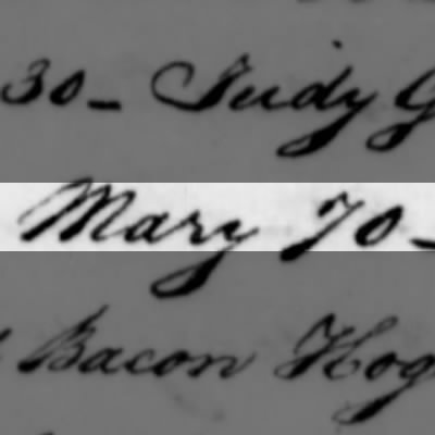 Mary, Slave of Humphry Sommers
