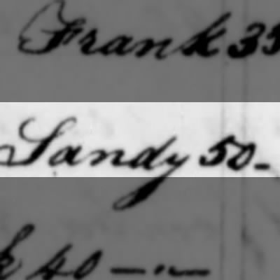 Sandy, Slave of Humphry Sommers