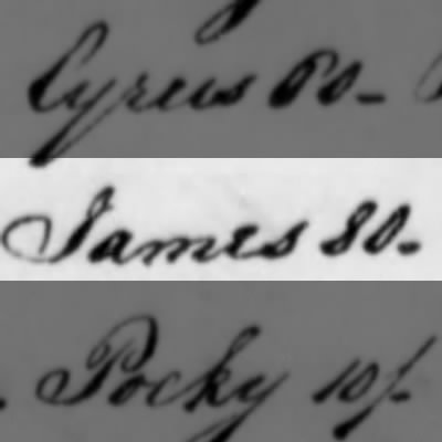 James, Slave of Humphry Sommers