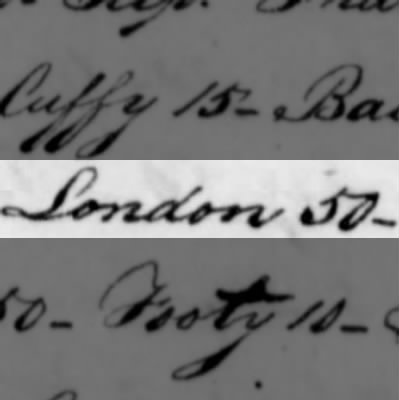Lonson, Slave of Humphry Sommers
