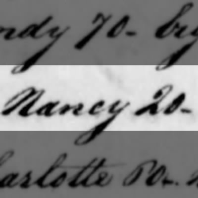 Nancy, Slave of Humphry Sommers