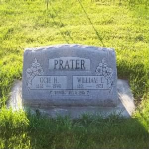 Headstone for William E. & Ocie Ham PRATER