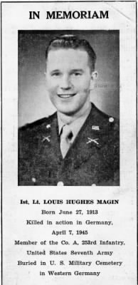 photo of Louis Hughes Magin
