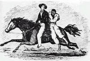 John Murrell stealing a slave from an early book on the subject