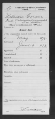 May 1778 Muster Roll