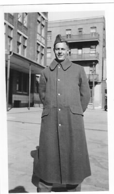 Jim Bugbee in Canada, he was issued a WWI Great-Coat.