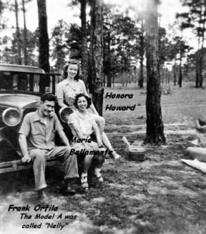 Frank with Honora and her friend Marie, 1942